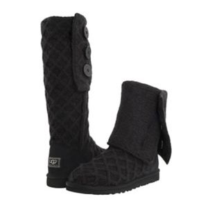 Authentic Ugg Lattice Cardy Sweater Boots